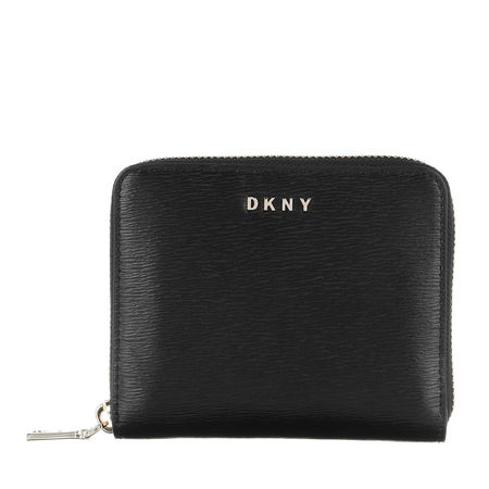 DKNY  Portemonnaie - Bryant Small Zip Around Blk/Gold - in schwarz - für Damen
