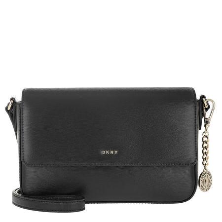 DKNY  Umhängetasche - Bryant Medium Flap Xbody Blk/Gold - in schwarz - für Damen