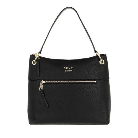 DKNY  Hobo Bag - Gregorio Hobo Blk/Gold - in schwarz - für Damen schwarz