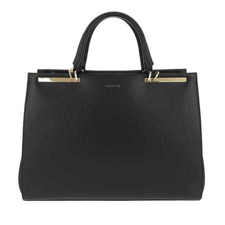 """Maison Héroïne  Laptoptasche  -  Claire 13"""" Handle Bag Black/Black Lavagna/Gold  - in schwarz  -  Laptoptasche für Damen grau"""