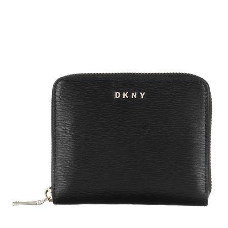 DKNY  Portemonnaie  -  Bryant Small Ziparound Wallet Black/Gold  - in schwarz  -  Portemonnaie für Damen schwarz
