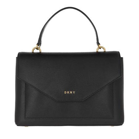 DKNY  Satchel Bag  -  Alexa Medium Satchel Black/Gold  - in schwarz  -  Satchel Bag für Damen grau