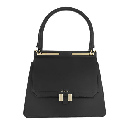 Maison Héroïne  Satchel Bag  -  Marlene Tablet Handle Bag Black/Black Lavagna/Gold  - in schwarz  -  Satchel Bag für Damen grau