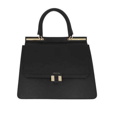 Maison Héroïne  Satchel Bag  -  Marlene 13'' Handle Bag Black/Black Lavagna/Gold  - in schwarz  -  Satchel Bag für Damen schwarz