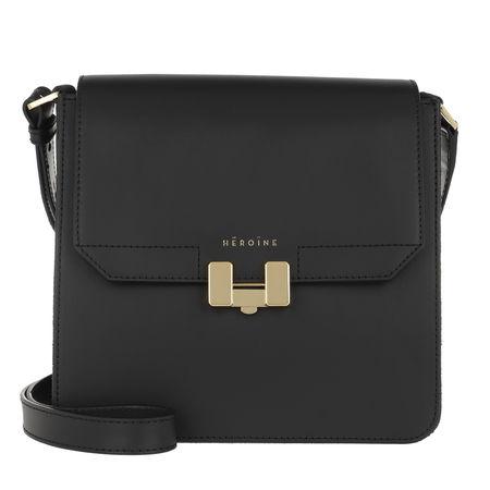 Maison Héroïne  Umhängetasche  -  Tilda Tablet Mini Black/Black Lavagna/Gold  - in schwarz  -  Umhängetasche für Damen grau