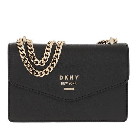 DKNY  Umhängetasche  -  Whitney Small Crossbody Bag Black/Gold  - in schwarz  -  Umhängetasche für Damen grau