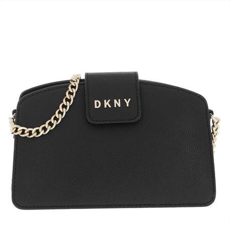 DKNY  Umhängetasche  -  Clara Chain Crossbody Bag Black/Gold  - in schwarz  -  Umhängetasche für Damen schwarz