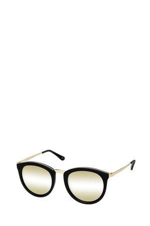 Le Specs  Sonnenbrille No Smirking Black Gold Damen Farbe: schwarz/gold verspiegelt beige