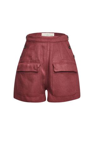 Golden Goose  High-Waist-Shorts Lorena aus Leinen braun