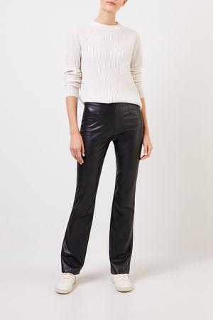 Vince  - Klassischer Cashmere-Pullover Weiß/Grau Meliert