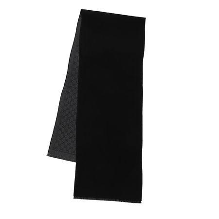 Gucci  Accessoire  -  Jacquard Lonar Scarf Anthracite/Grey  - in schwarz  -  Accessoire für Damen schwarz