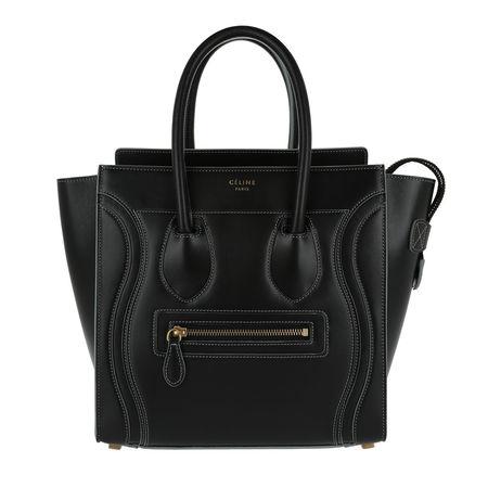 Céline Celine Tote  -  Tote Bag Micro Luggage Nero/Grigio  - in schwarz  -  Tote für Damen schwarz