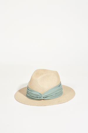 Fabiana Filippi  - Hut mit Knotendetail Beige/Grün