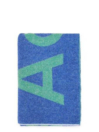 Acne Studios  - Woll-Schal 'Toronty' mit Logoprint Blau/Grün blau