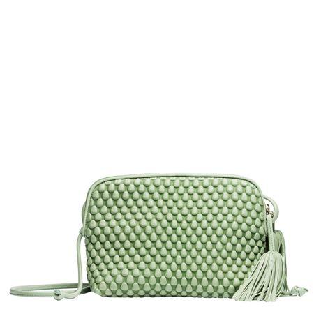 Tissa Fontaneda ® - Handtasche aus Leder in Mint/Grün für Damen, Größe UNI gruen