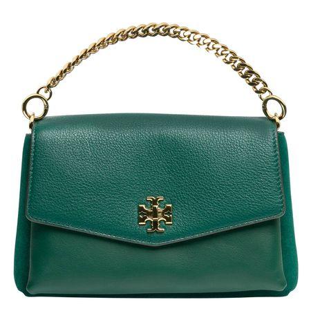 Tory Burch ® - Handtasche aus Leder in Dunkelgrün/Grün für Damen, Größe UNI tuerkis