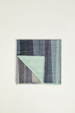 Iris von Arnim  - Tuch 'Henni' Blau/Grün grau