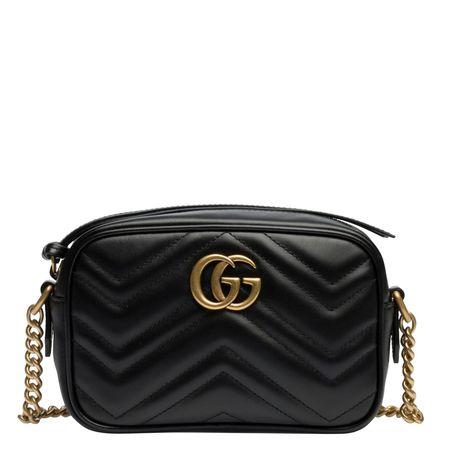 Gucci ® - Schultertasche aus Leder in Schwarz für Damen, Größe UNI schwarz