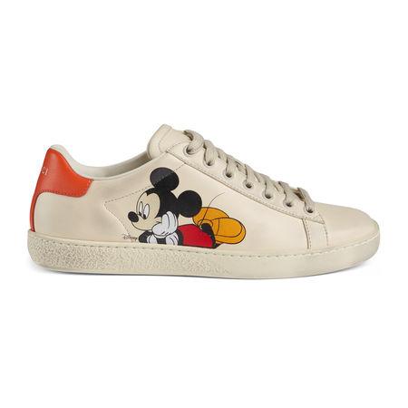 "Gucci Ace ""Disney x "" Damensneaker braun"