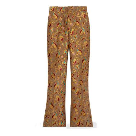 Gucci Ausgestellte Hose mit GGRamagé-Motiv braun