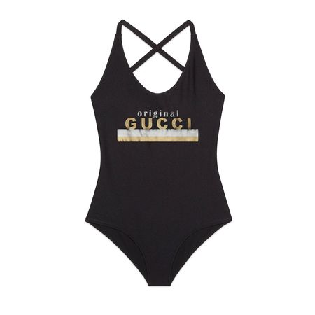 """Gucci Badeanzug mit """"Original """"-Print schwarz"""