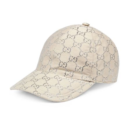 Gucci Baseballkappe aus GGLamé braun