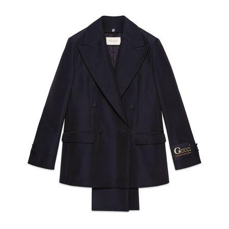 Gucci Blazer aus Faille mit abnehmbarem Revers schwarz