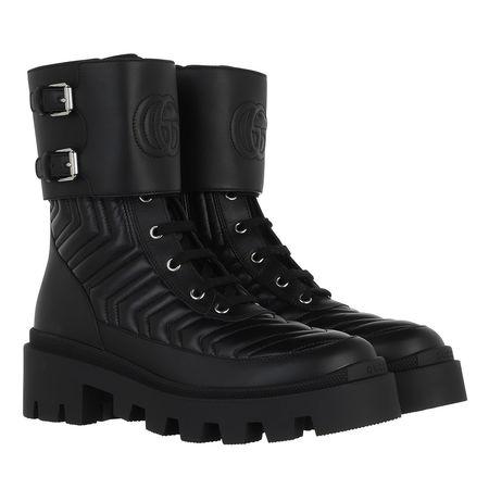 Gucci  Boots & Stiefeletten - Frances Boots Leather - in schwarz - für Damen schwarz