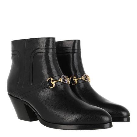 Gucci  Boots & Stiefeletten - Horsebit Boots - in schwarz - für Damen schwarz