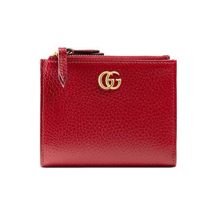 Gucci Brieftasche GG Marmont aus Leder rot