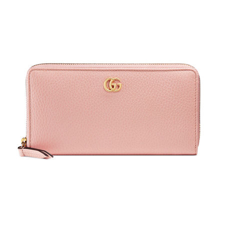 Gucci Brieftasche mit Rundumreißverschluss aus Leder orange