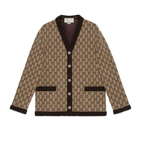Gucci Cardigan aus GGWollstrick braun