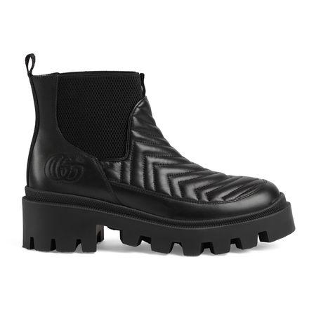 Gucci ChelseaDamenstiefel mit Matelassé-Details schwarz