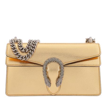 Gucci  Crossbody Bags - Dionysus Small Shoulder Bag Leather - in gold - für Damen orange