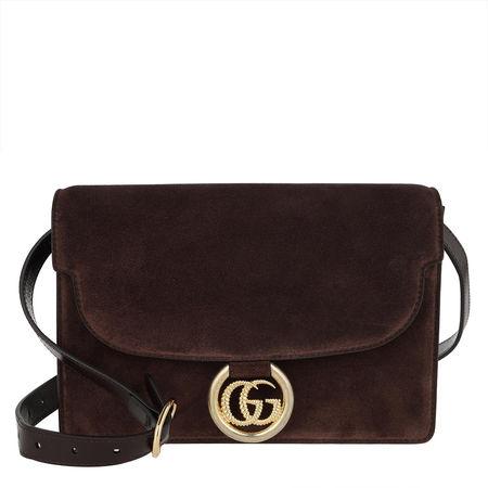 Gucci  Crossbody Bags - GG Ring Shoulder Bag - in braun - für Damen schwarz