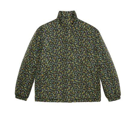 Gucci Daunenjacke aus Nylon mit  Liberty-Print grau
