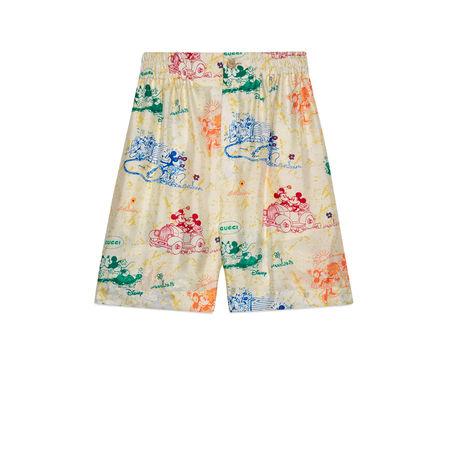 "Gucci ""Disney x "" Shorts aus Seide braun"