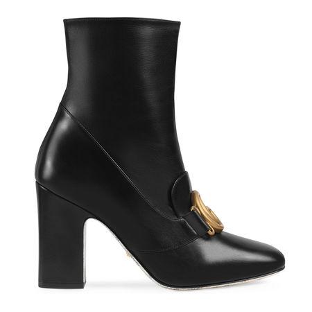 Gucci DoppelG Stiefelette aus Leder schwarz