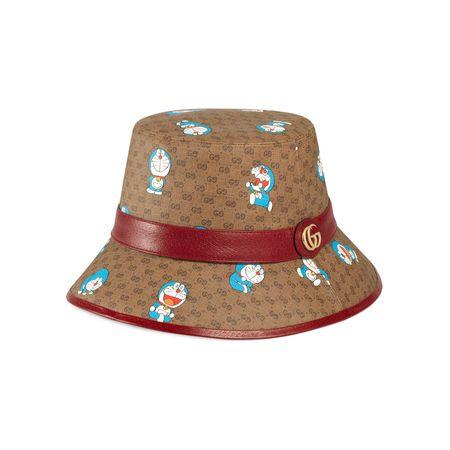 Gucci Doraemon x  Fischerhut braun