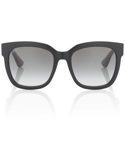 Gucci Eckige Sonnenbrille weiss