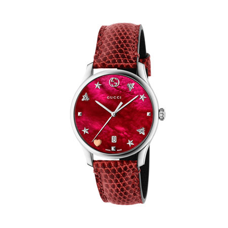 Gucci G-Timeless Uhr, 36mm rot