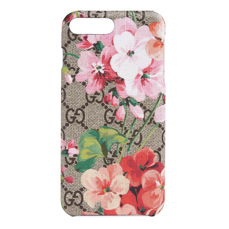 Gucci GG Blooms iPhone 8 Plus-Etui braun