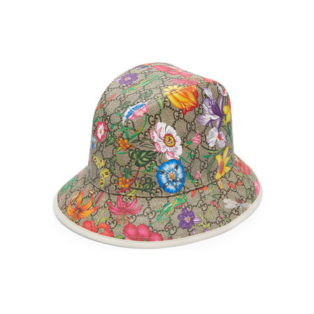 Gucci GGFilzhut mit Flora-Print braun