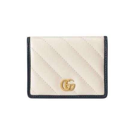 Gucci GGMarmont Brieftasche beige