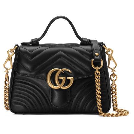 Gucci GG Marmont Mini-Henkeltasche schwarz