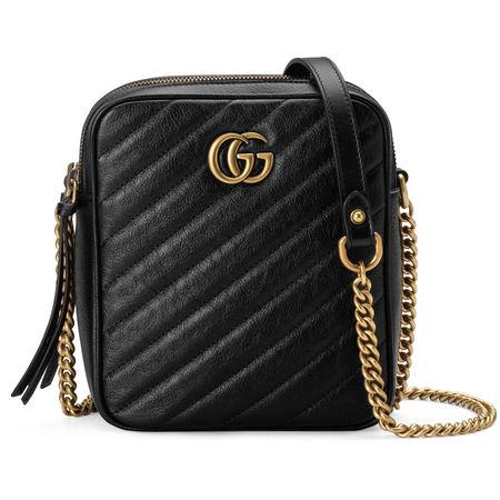 Gucci GG Marmont Mini-Schultertasche schwarz
