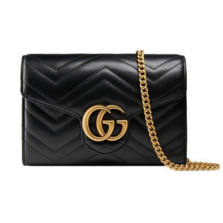 Gucci GG Marmont Mini-Tasche aus Matelassé-Leder schwarz