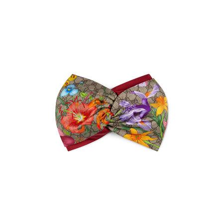Gucci GGStirnband mit Flora-Print braun