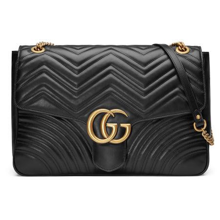 Gucci Große GG Marmont Schultertasche grau