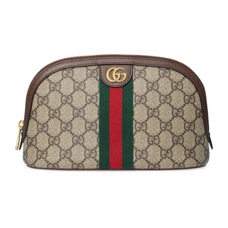 Gucci Großes Ophidia Kosmetiketui braun